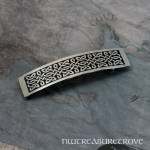 Celtic Thin Knot Large Nickel Silver Barrette NHC-5B