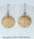 Celtic Knot Brass Earrings BE-2