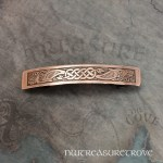 Celtic Mermaid Brass Large Barrette BHC-15