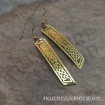 Celtic Mermaid Brass Earrings BE-137
