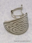Oval Celtic Knot Nickel Silver Ponytail Clip NPC-15