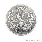 Scottish Thistle Sterling Silver Hair Tie ST-16