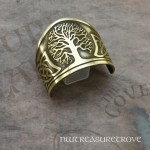 Celtic Tree of Life Brass Ponytail Holder BC-2