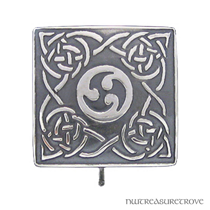 Celtic 4 Square Knots Sterling Silver Hair Tie ST-11