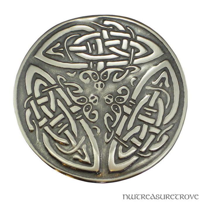 3 Celtic Dragons Sterling Silver Hair Tie ST-12