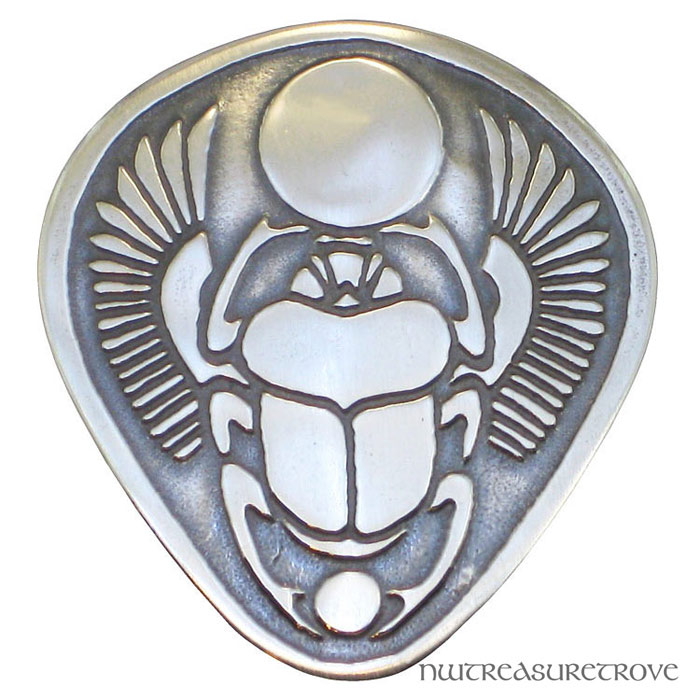 Egyptian Winged Scarab Sterling Silver Hair Tie ST-15